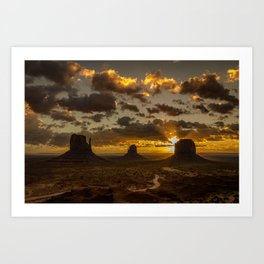 Monument Valley - Vivid Sunrise Art Print