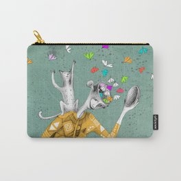 the imaginative robot clown and his cat friend Carry-All Pouch