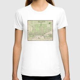 Vintage Map of Davenport Iowa (1875) T-shirt