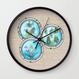 Triple Portholes Wall Clock