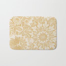 Floral in Yellow Bath Mat