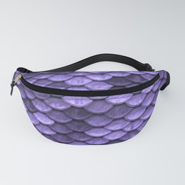 Mermaid Scales Periwinkle Ultra Violet Fanny Pack