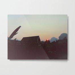 Vang Vieng Sunset Metal Print