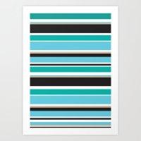 Vivid Stripes Art Print