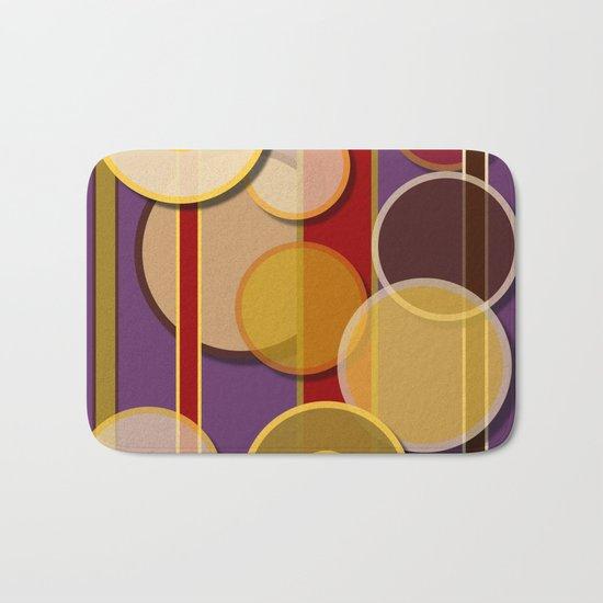 Circles, Lines & Colors Bath Mat