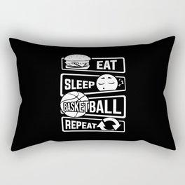 Eat Sleep Basketball Repeat - B-Ball Team Dunk Rectangular Pillow