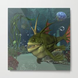 Awesome fish in the deep ocean Metal Print