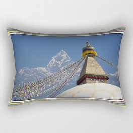 BOUDHANATH AND MACHAPUCHARE NEPAL COMPOSITE Rectangular Pillow