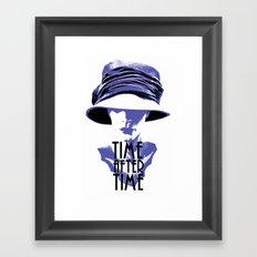 Time After Time Bleu Framed Art Print