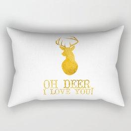 Oh Deer, I Love You Rectangular Pillow