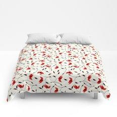 Strange Red Flowers Pattern Comforters