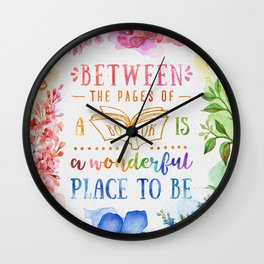 Between the pages Wall Clock