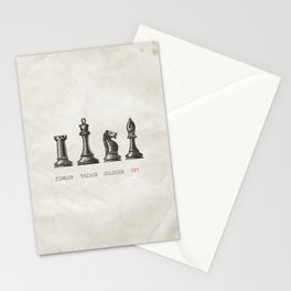 Tinker Tailor Soldier Spy Stationery Cards