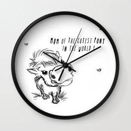 Cut Pony ! Wall Clock