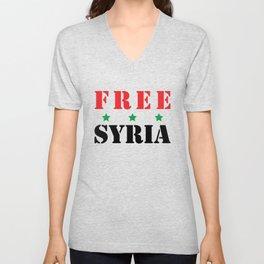 FREE SYRIA Unisex V-Neck