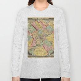 Map of Philadelphia 1849 Long Sleeve T-shirt