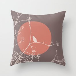 Bird on a branch 2 Throw Pillow