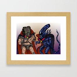 """Vampire Alien Vs. Vampire Predator"" (from Farts 'N' Crafts episode 7) Framed Art Print"