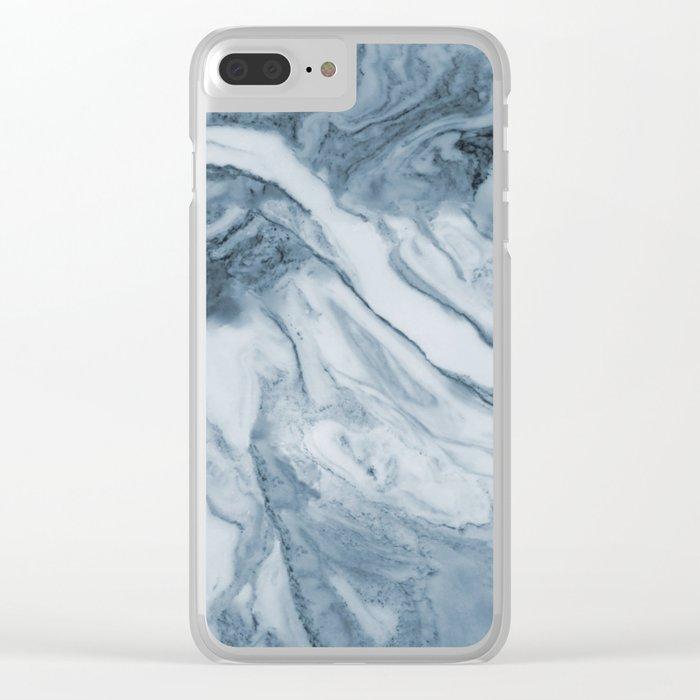 Cipollino Azzurro blue marble Clear iPhone Case