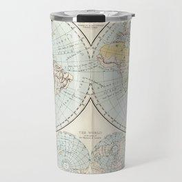 Old Map of The Globe Travel Mug