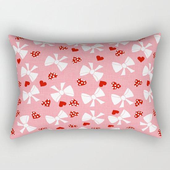 Lace gift wrap pink Rectangular Pillow