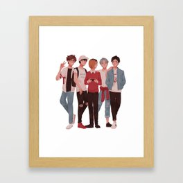 Pretty Setter Squad Framed Art Print