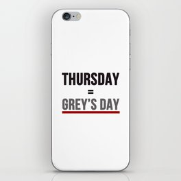 Grey's Day iPhone Skin
