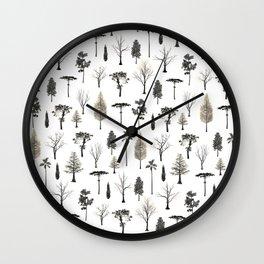 trees pattern Wall Clock
