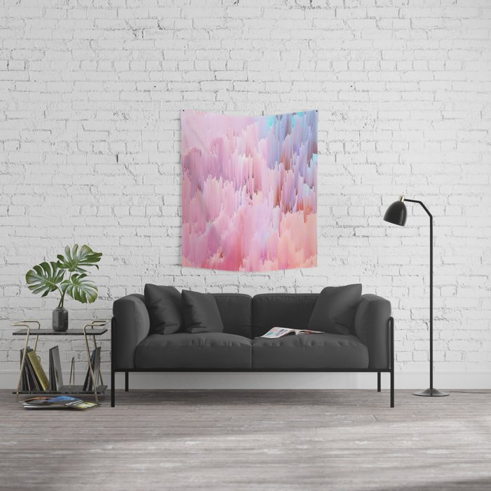 Delicate Glitches Wall Tapestry