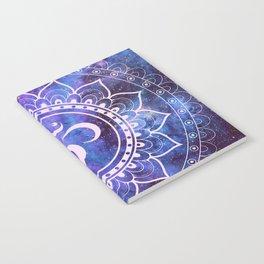 Om Mandala Purple Lavender Blue Galaxy Notebook