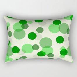 Green Spots Rectangular Pillow