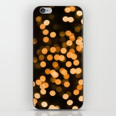 Golden Holiday Bokeh iPhone & iPod Skin