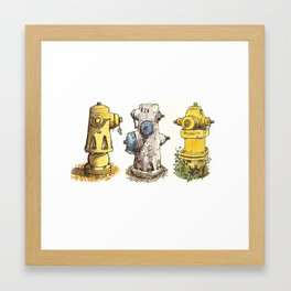 Pete's fire hydrants Framed Art Print