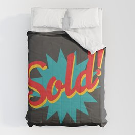 Sold! Comforters
