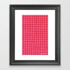 Warm Grid Framed Art Print