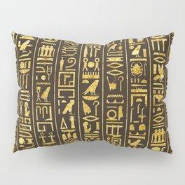 Gilded Hieroglyphs Pillow Sham