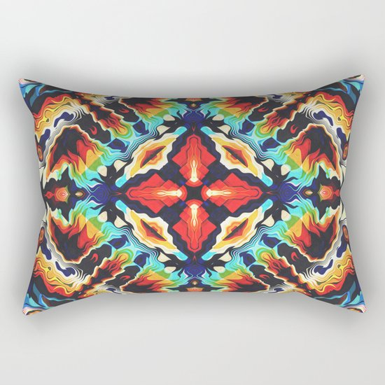 Ornate Geometric Colors Rectangular Pillow