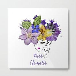 Miss Clematis Metal Print