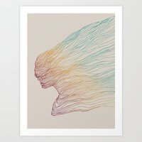 huebucket Art Prints featuring FADE by Huebucket