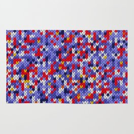 Knitted multicolor pattern 2 Rug