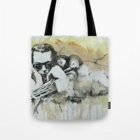 miles davis Tote Bags featuring Classic Material Series - Miles' Reign (c.2006) by Craig A. Hamilton