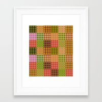 quilt Framed Art Prints featuring quilt by Isabella Asratyan