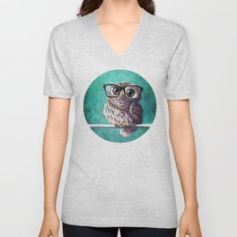 Intellectual Owl Unisex V-Neck