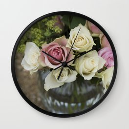 Rose Bouquet in a Vase Wall Clock