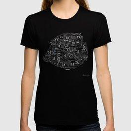 Typographic Map of Paris T-shirt