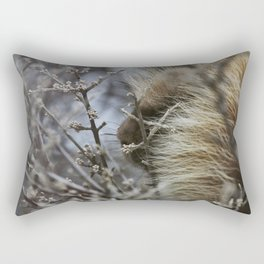Porcupine in the bush Rectangular Pillow