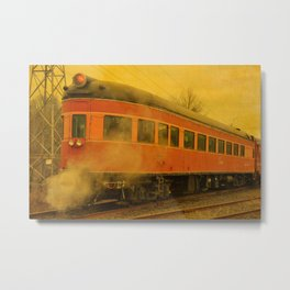 CHRISTMAS STEAM TRAIN Metal Print
