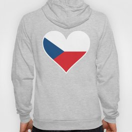 Czech Flag Heart Hoody