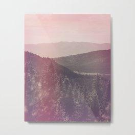 Light Leaked Forest Metal Print