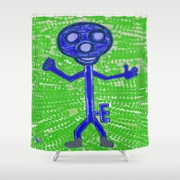 key Shower Curtains featuring Key by Huiskat